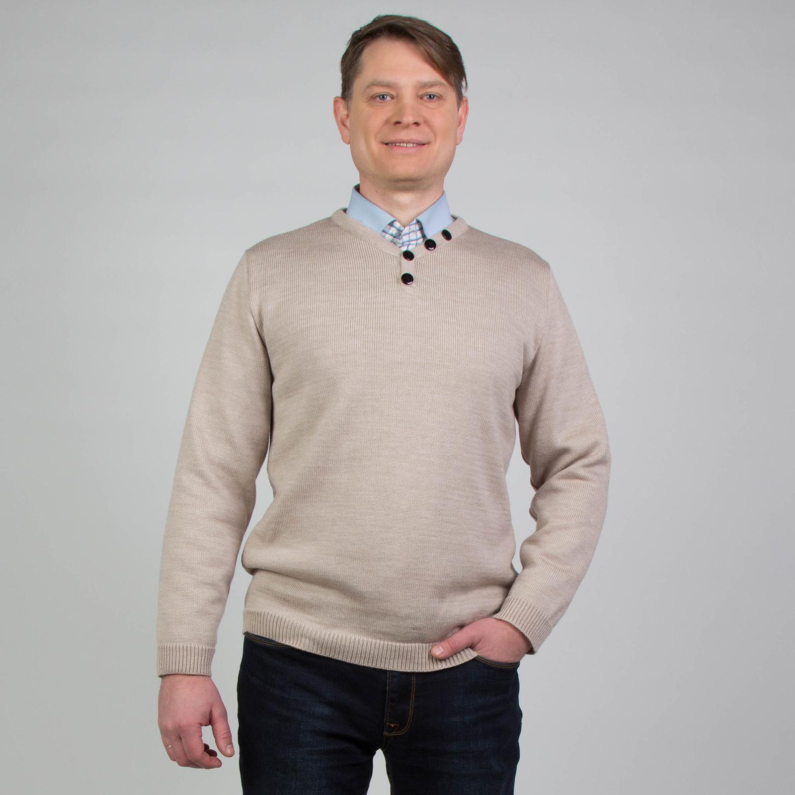 Джемпер актуального кроя с декоративными пуговицами