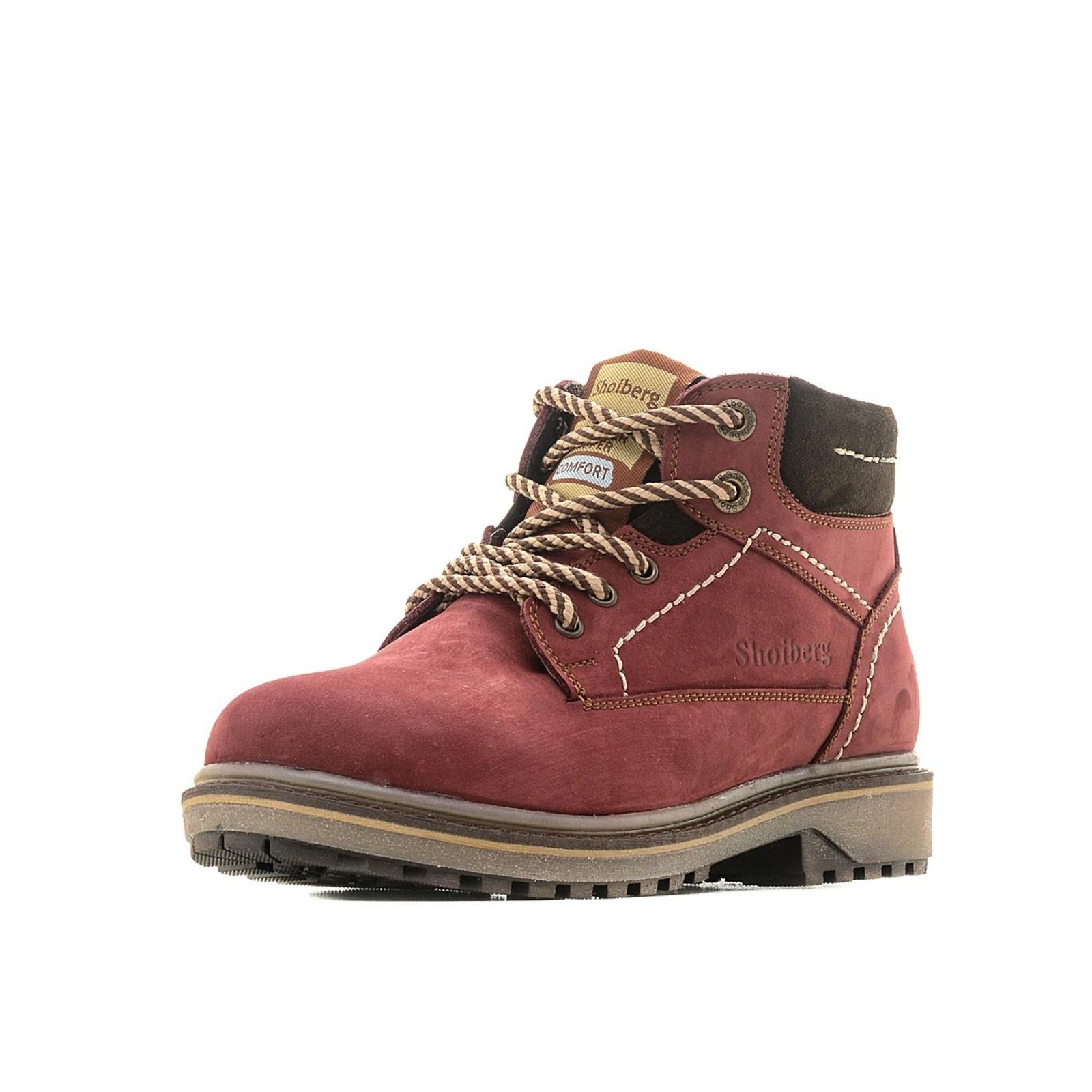 Ботинки женские со вставкой на голенище обувь shoiberg