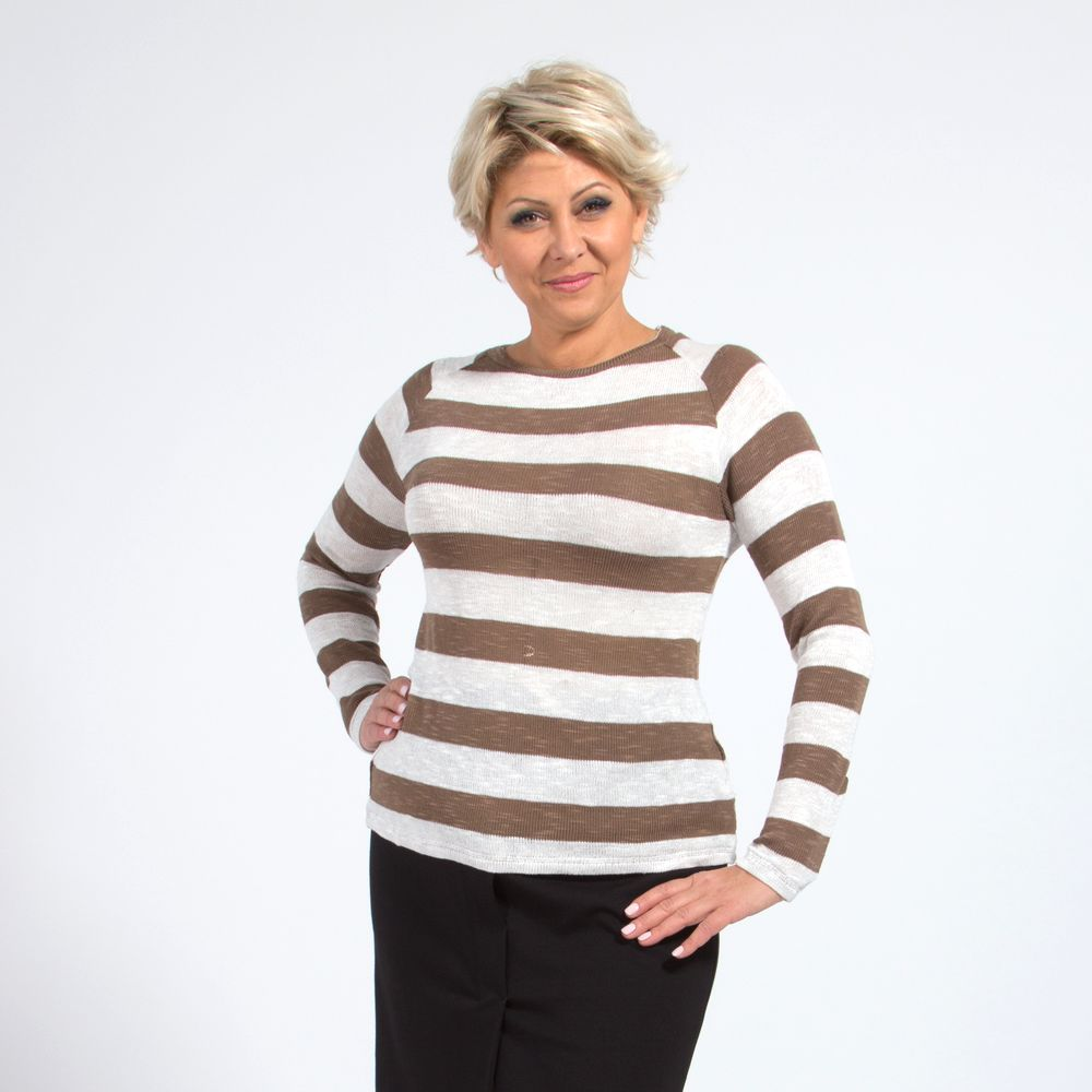 Джемпер женский с принтом «полоска» виброплатформы для похудения в алматы в интернет магазине