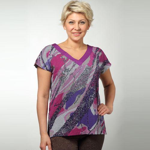 Блуза с ярким абстрактным принтом