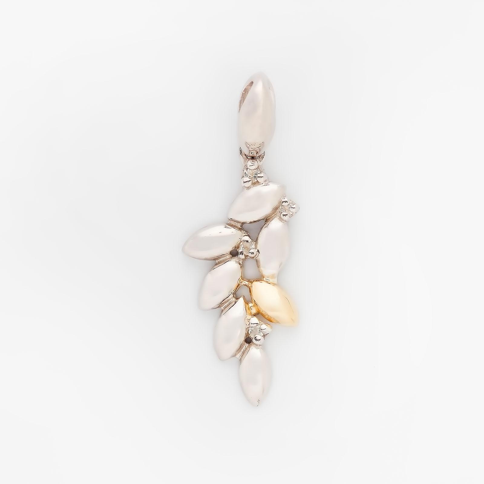 Серебряная подвеска «Капля золота»