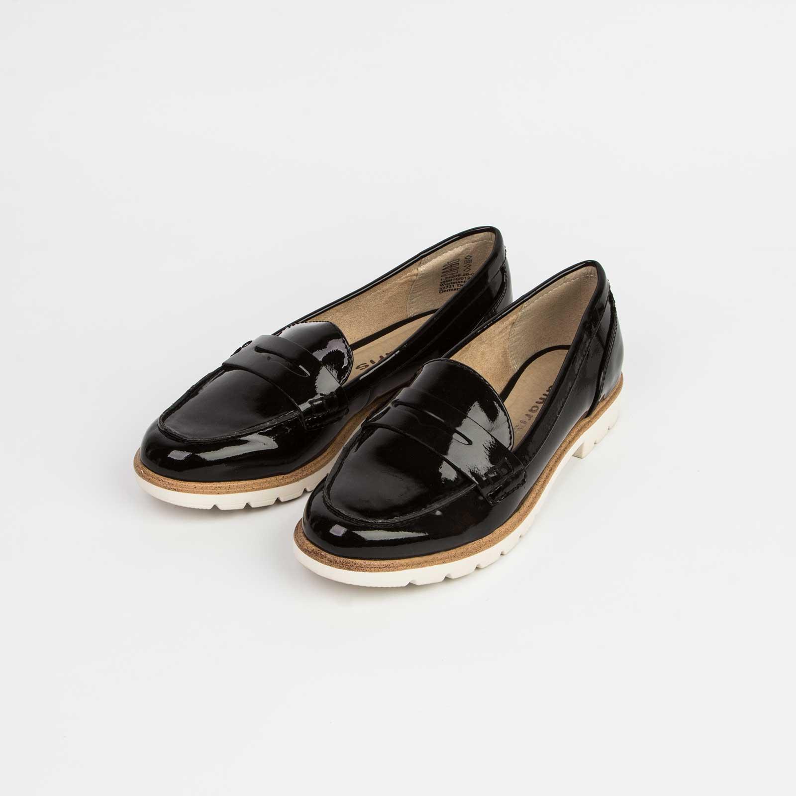 Туфли женские лакированные с рифленой подошвой