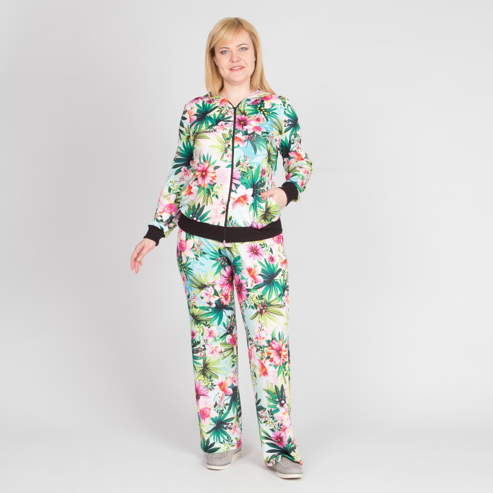 Костюм: ветровка и брюки с принтом «оазис»