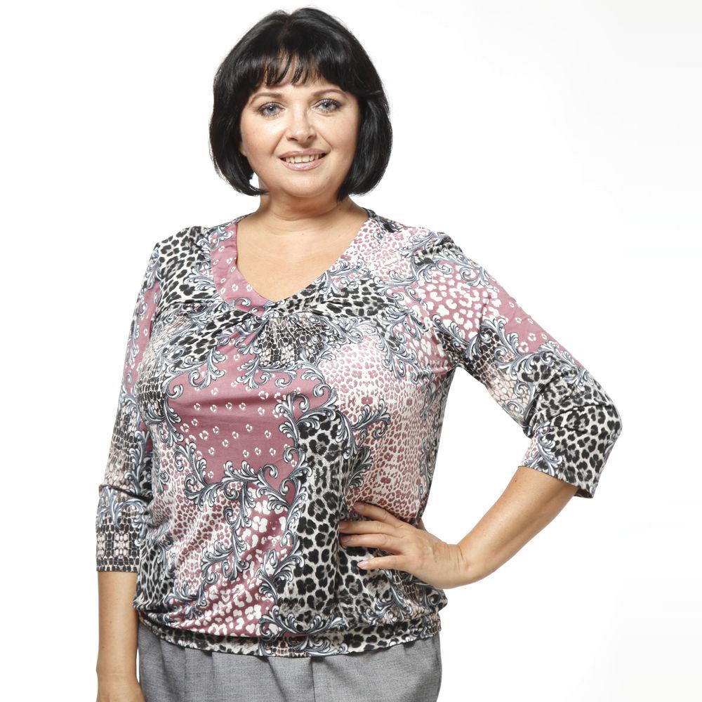 Блуза с рукавом 3/4 и защипами на груди