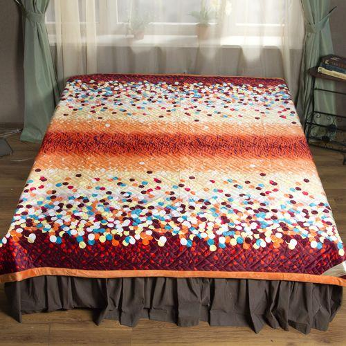 Покрывало-одеяло стеганое «Брызги радуги»