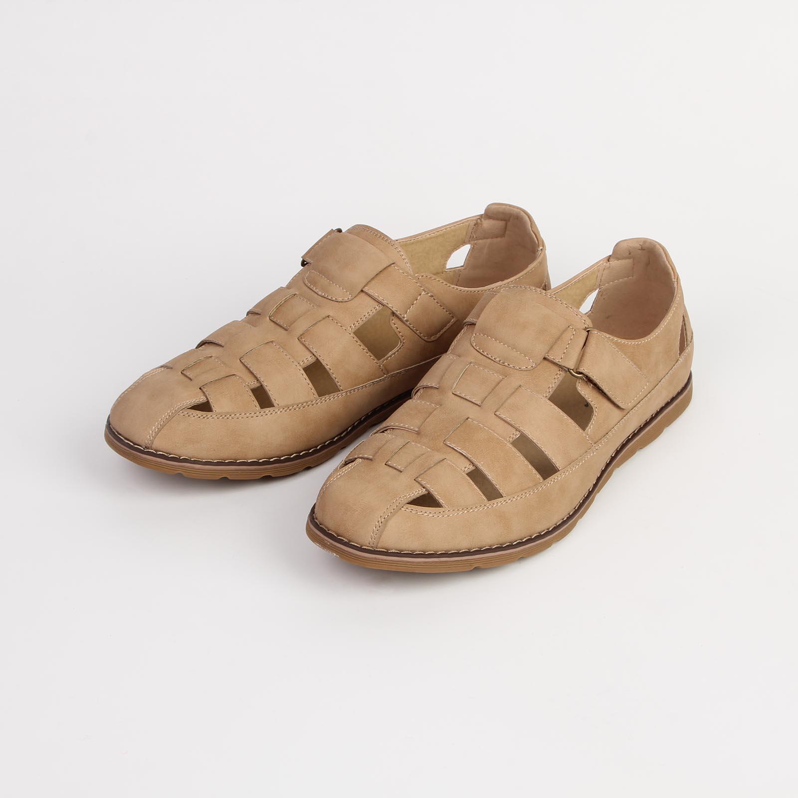 Туфли мужские с перекрещивающимися ремешками на удобной застежке