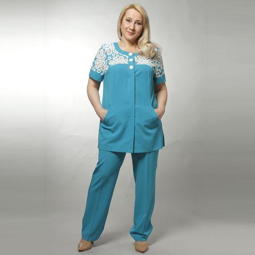 Комплект: туника с перфорацией и брюки