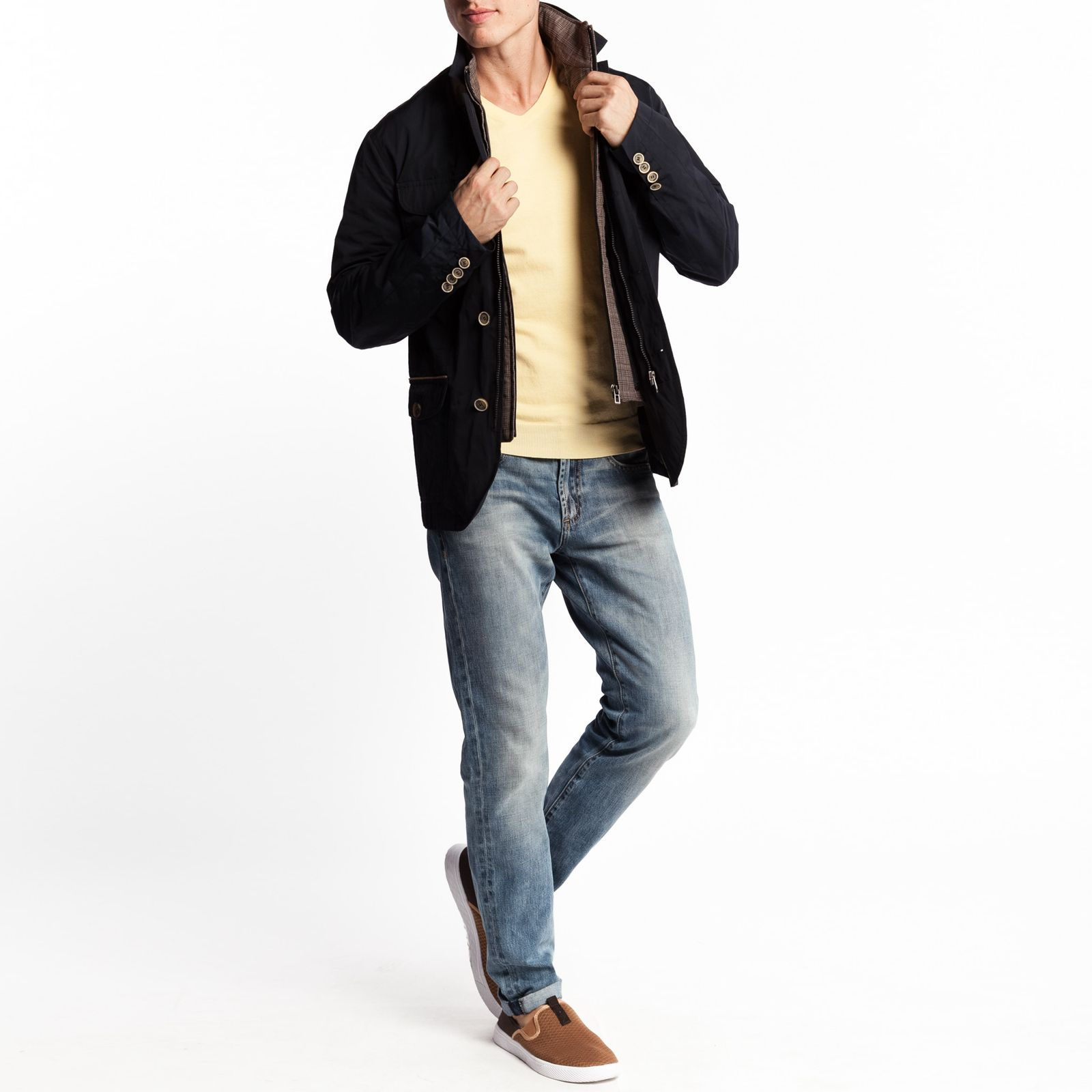 Куртка легкая с воротником стойка