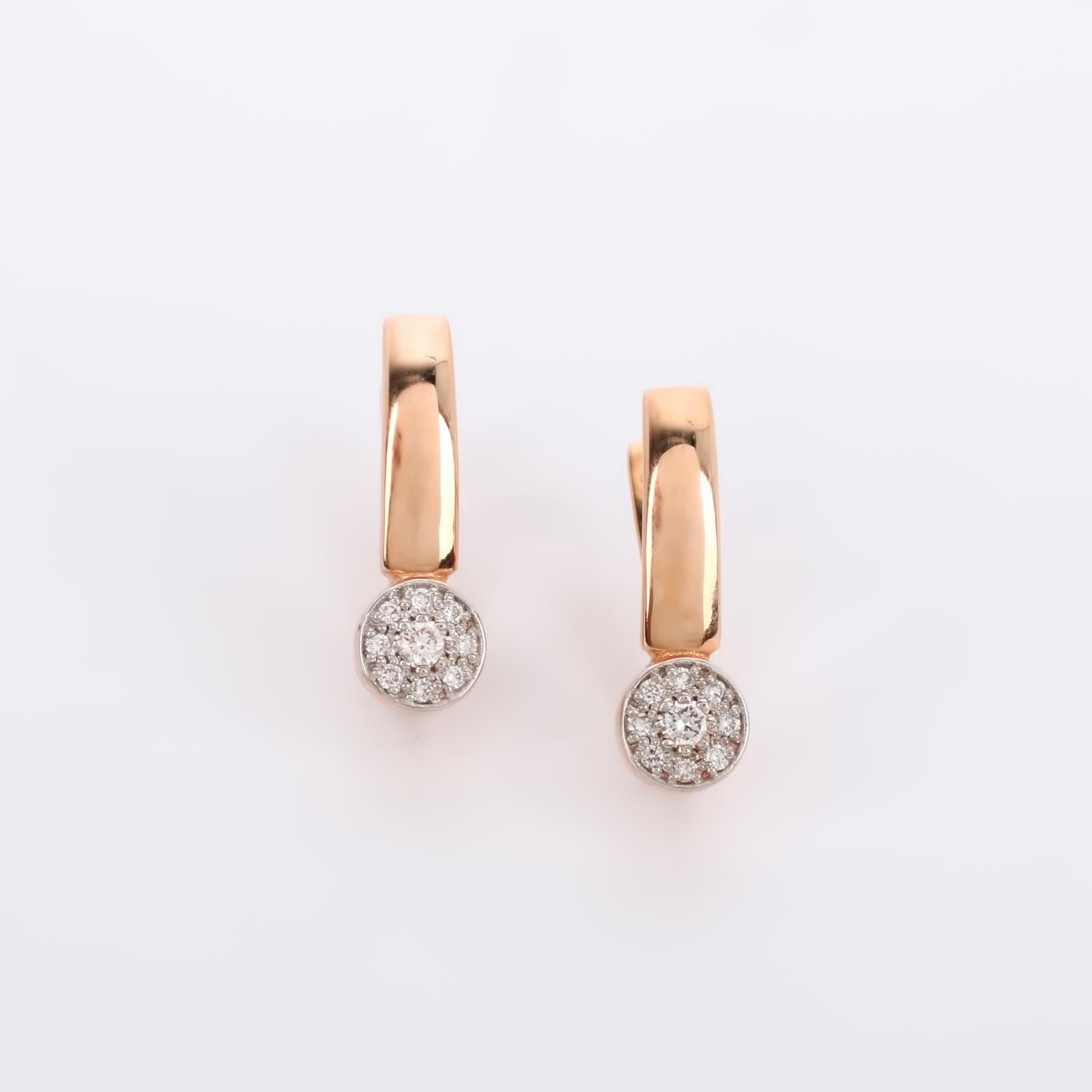"""Серьги из золота с бриллиантами """"Сияние"""""""