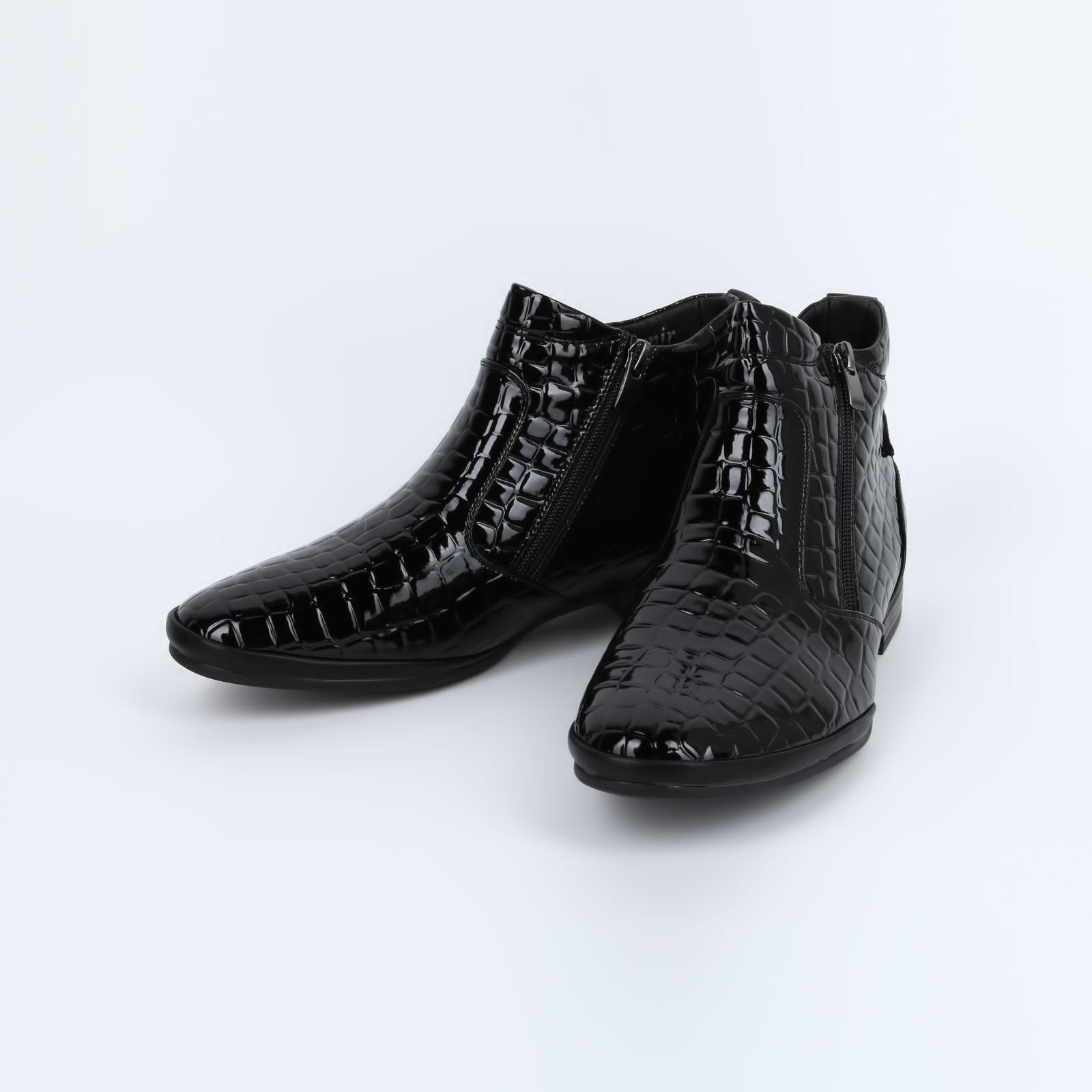 Ботинки под рептилию с заостренным мысом