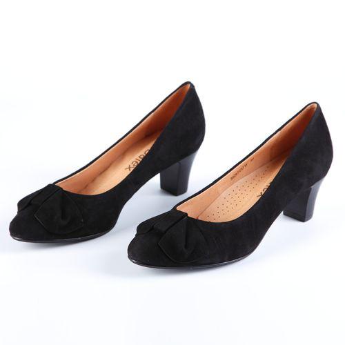 Туфли женские с декоративным элементом на мысу