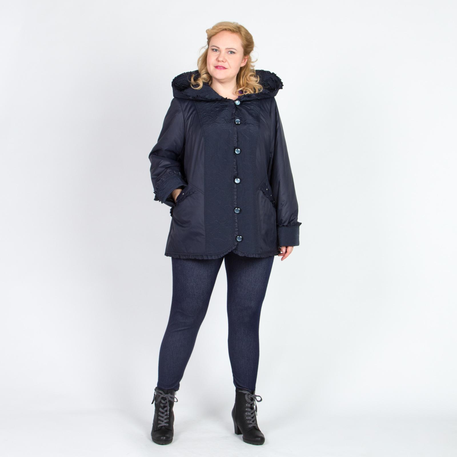 Куртка на пуговицах с отделкой и рюшами