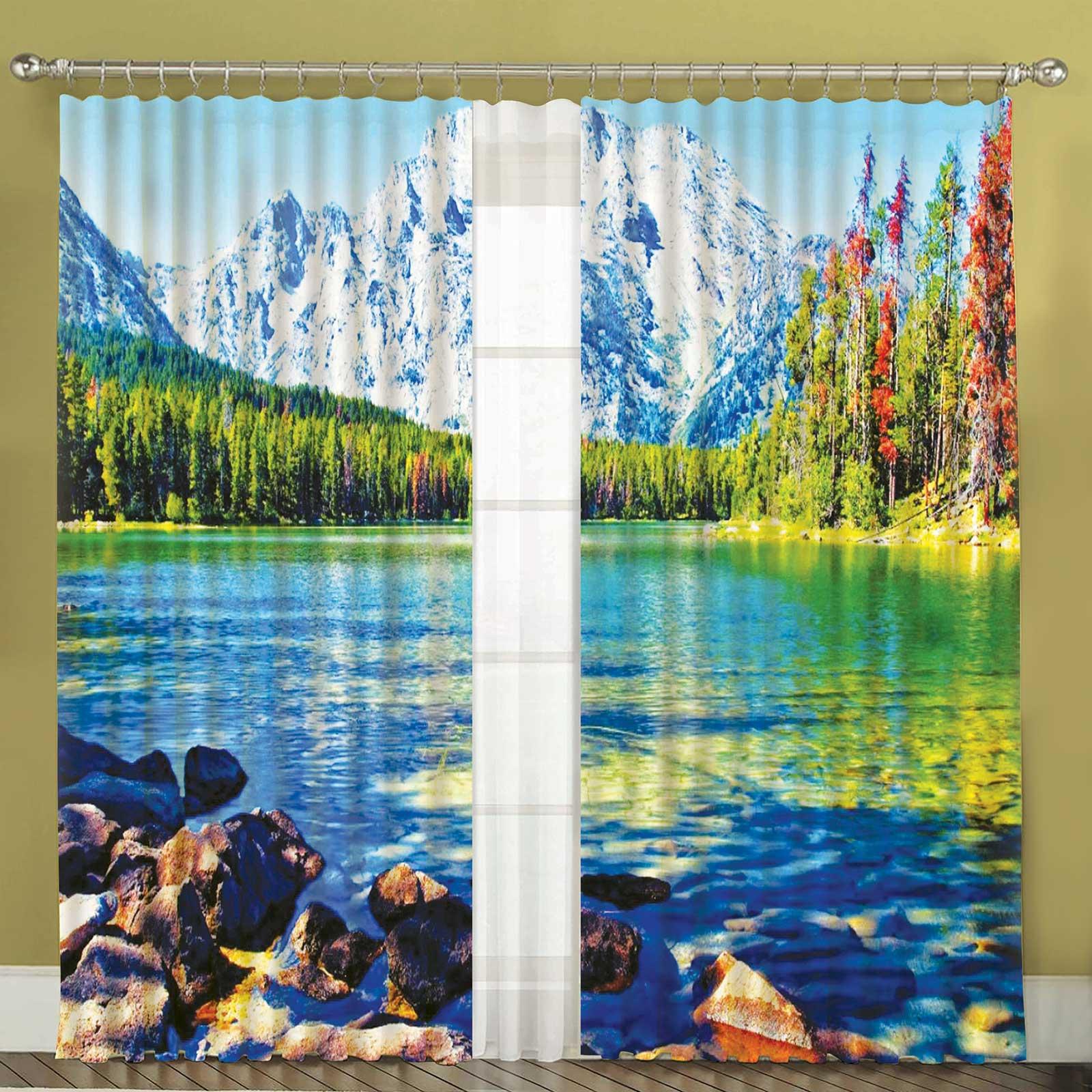 Комплект штор + тюль «Свежесть гор»