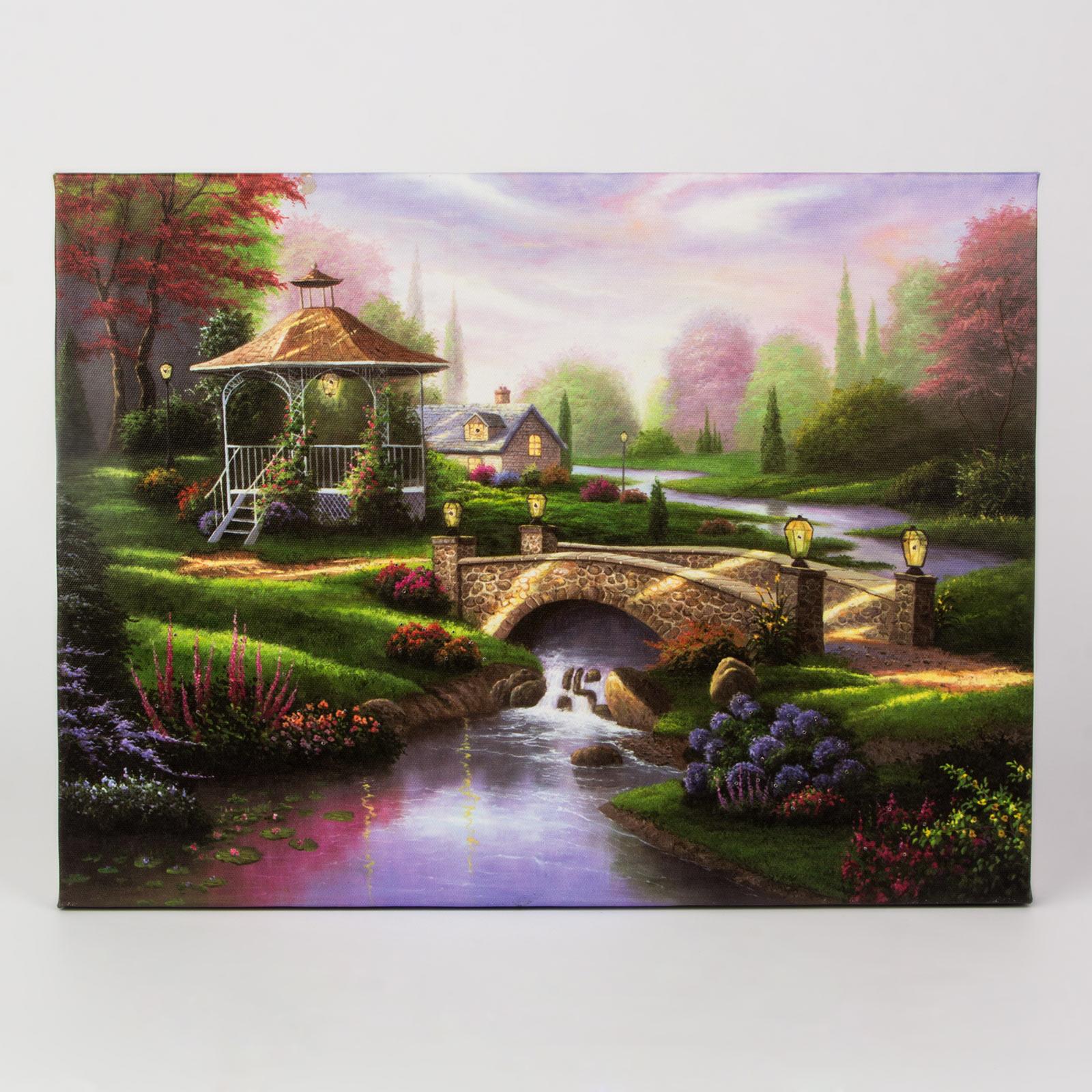 Светодиодная картина «Беседка у моста»