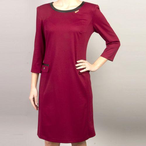 Платье из джерси с отделкой из экокожи виброплатформы для похудения в алматы в интернет магазине
