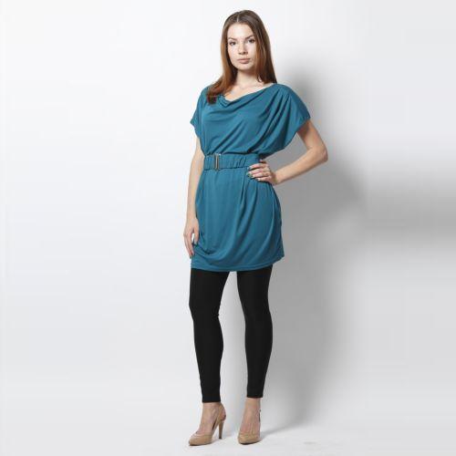 Элегантное платье-туника с удобным поясом