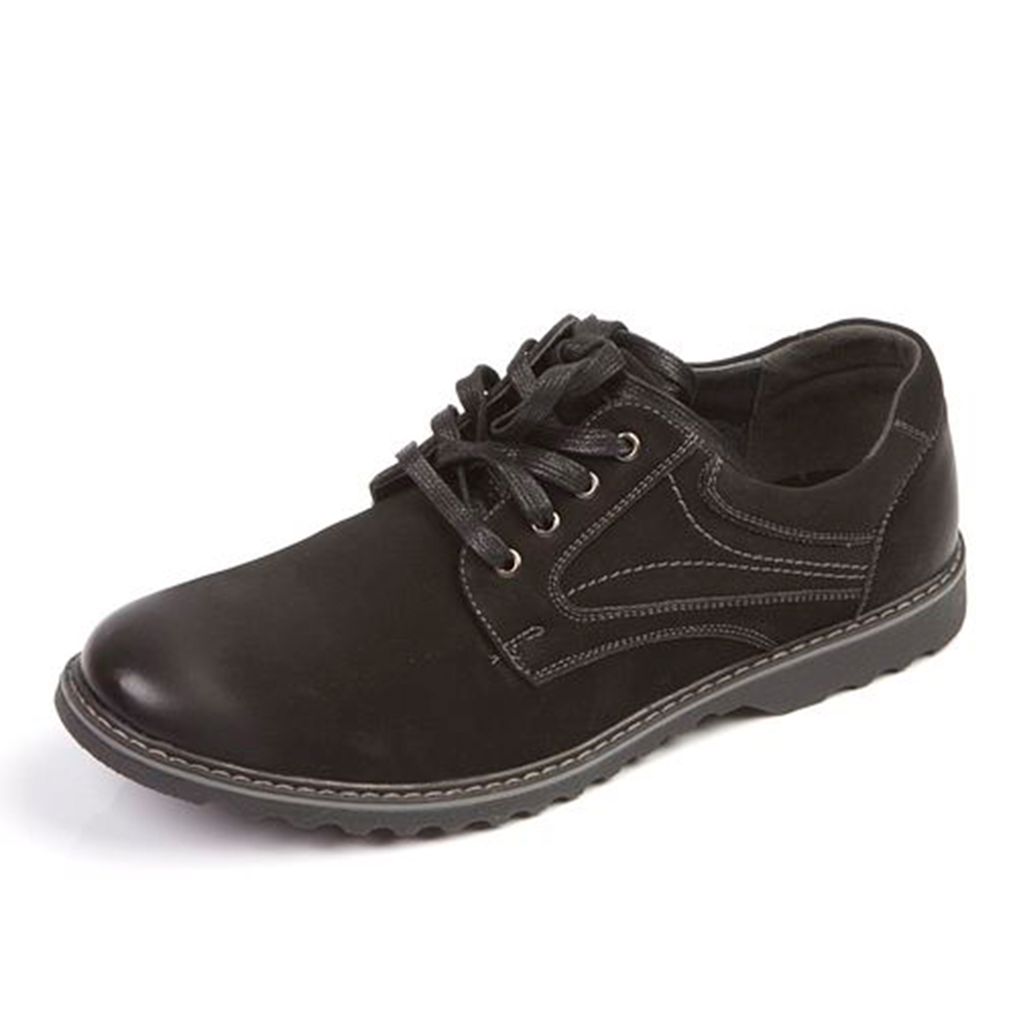 Мужские практичные туфли с потертым мысом