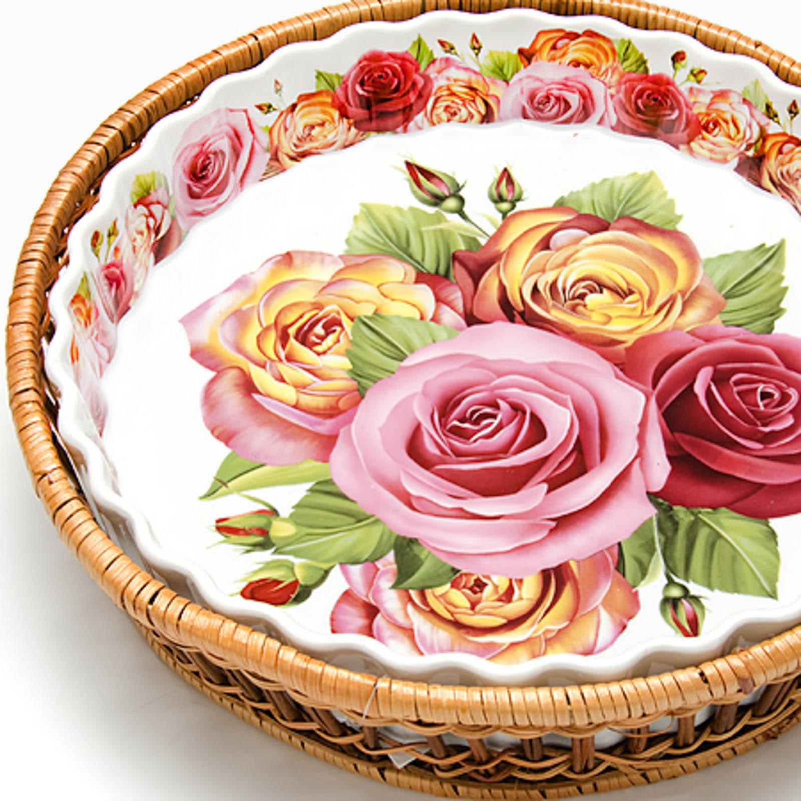 """Форма для запекания  """"Королевские розы"""", 2,1 л"""