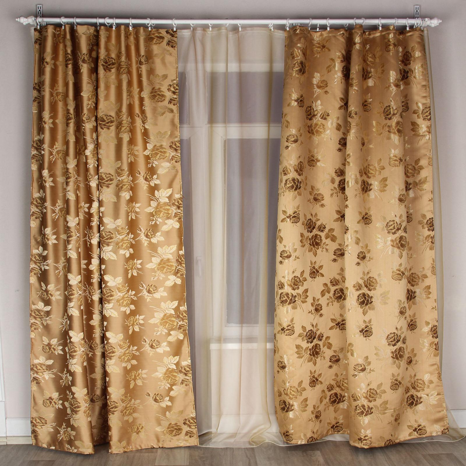 Комплект штор + тюль «Золотой Лувр»