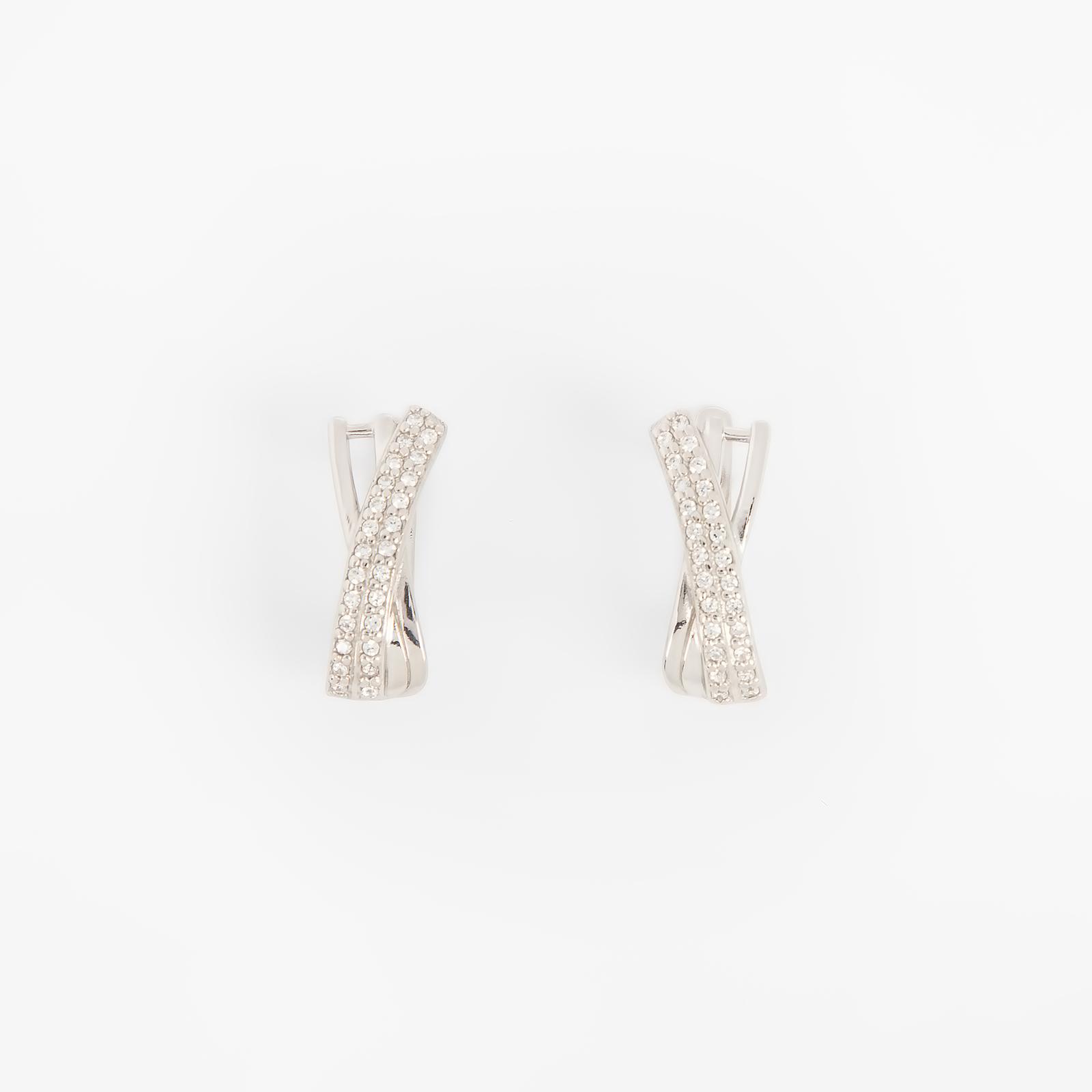 Серебряные серьги «Дорога счастья»