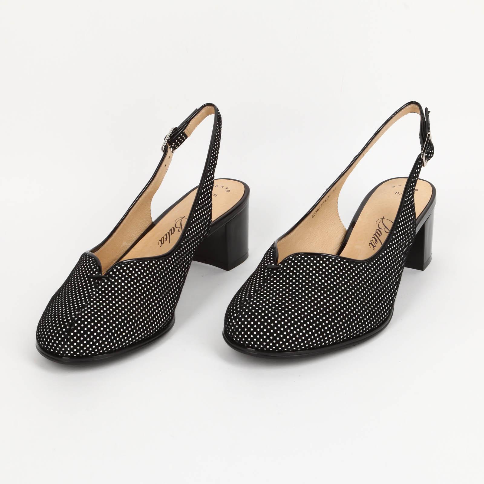 Женские летние туфли с открытой пяткой