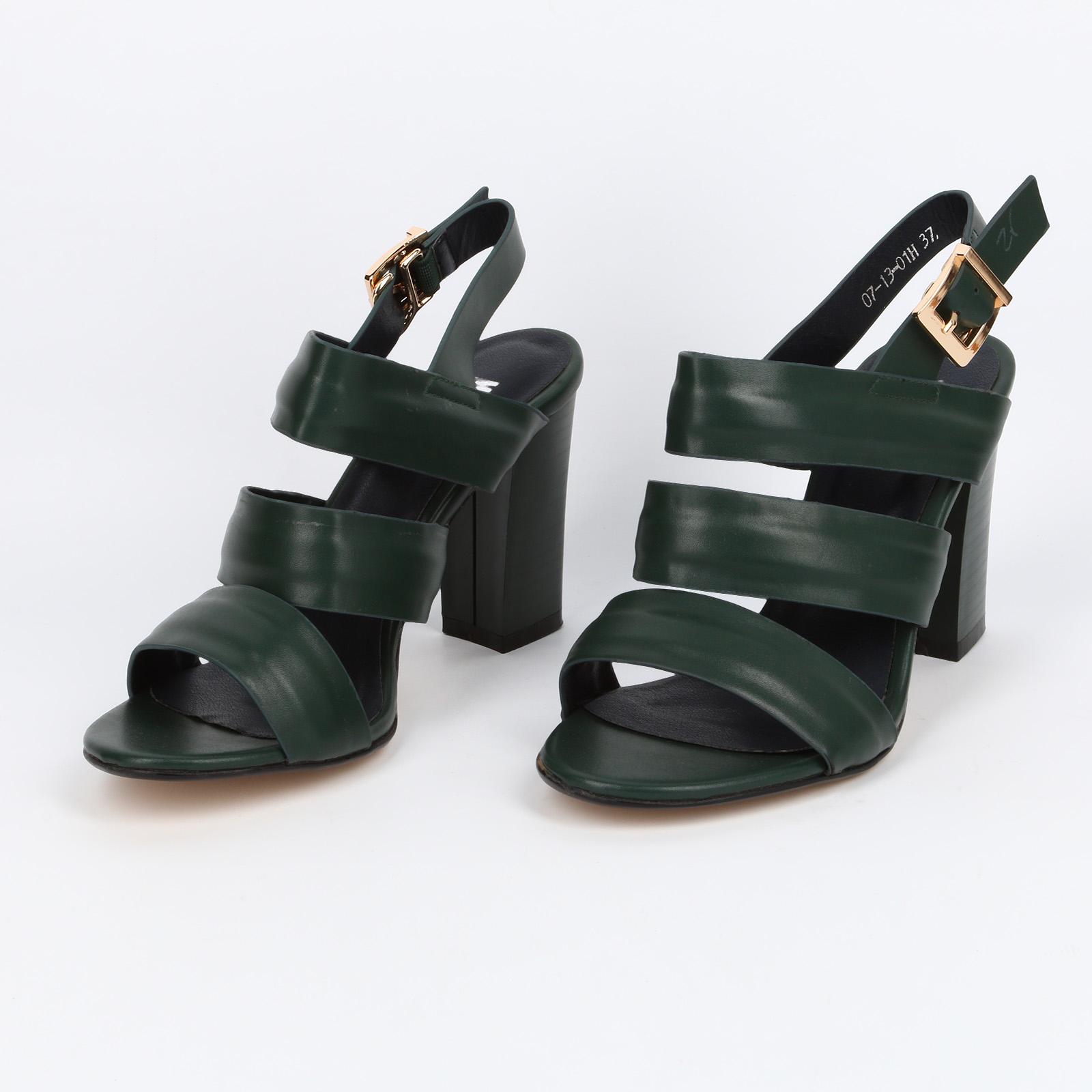 Бoсоножки женские на устойчивом каблуке