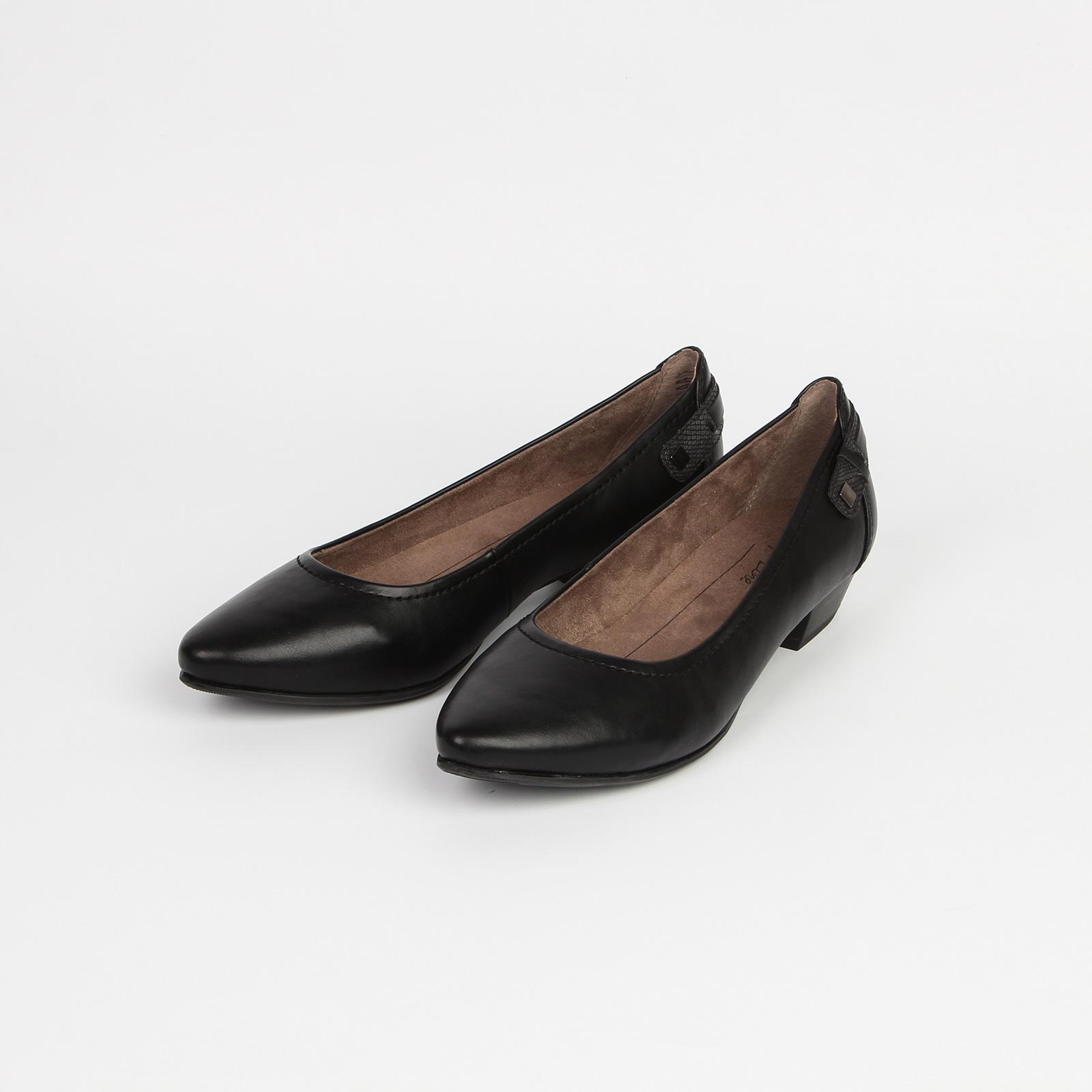 Туфли женские лодочки на устойчивом каблуке