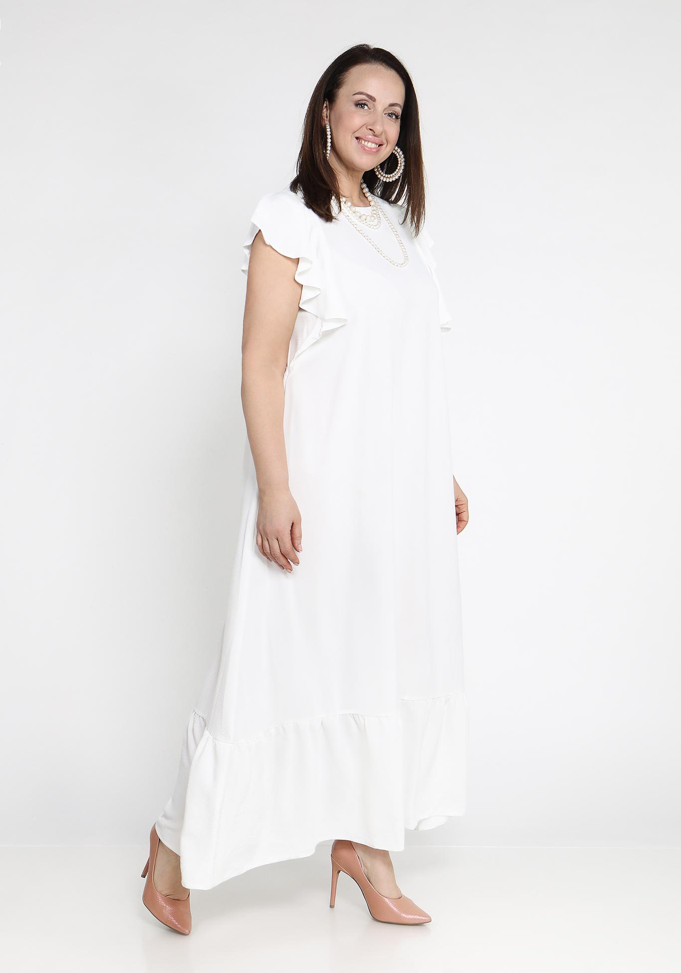 Платье с рукавами крылышками