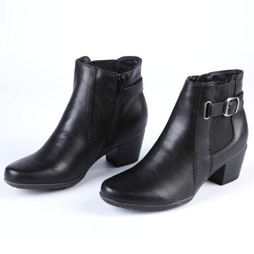 Ботинки женские с элегантным ремешком и широким каблуком