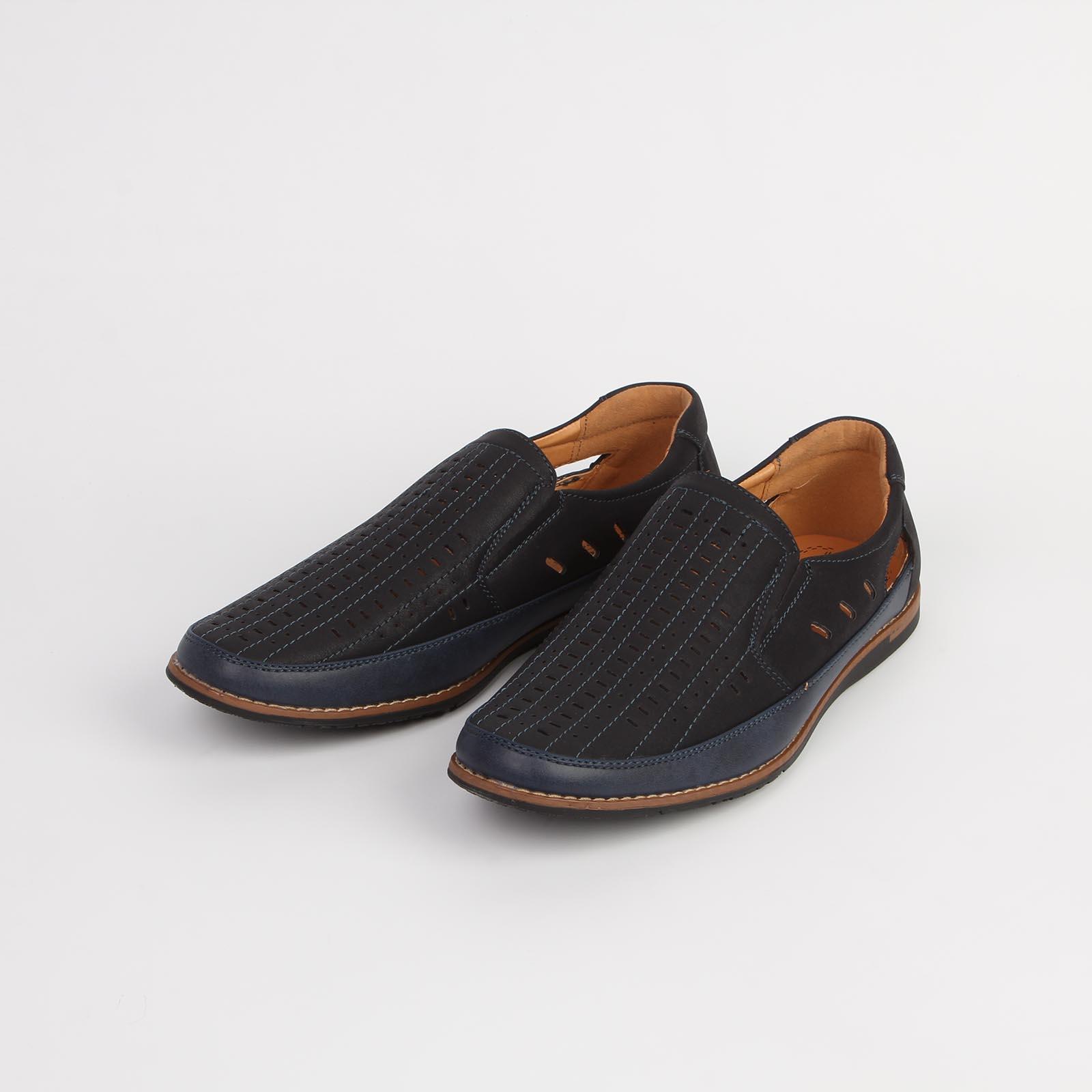 Туфли мужские декорированные мелкой сквозной перфорацией