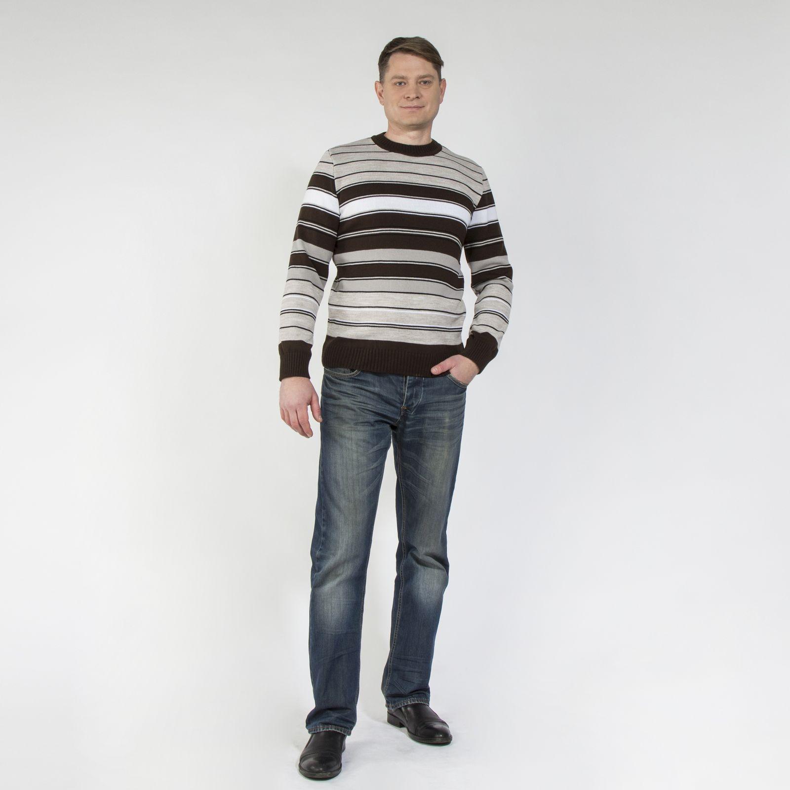 Джемпер классического кроя с принтом «полоска»