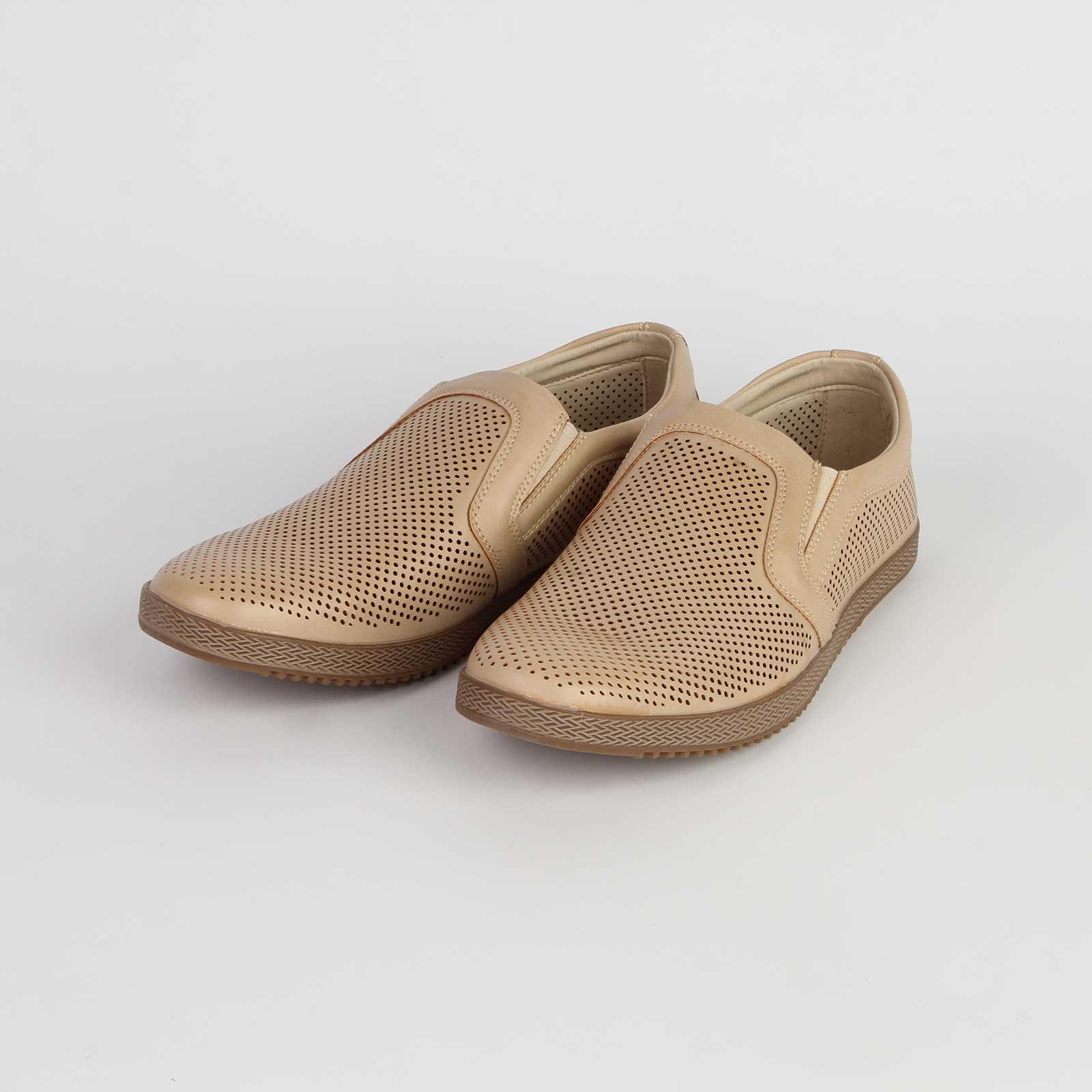 Туфли мужские перфорированные на устойчивой подошве