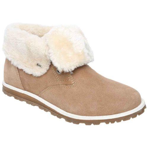 Женские зимние замшевые ботинки с меховым отворотом