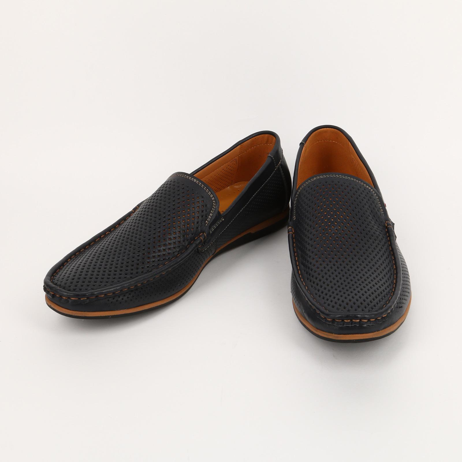 Туфли мужские из кожи перфорированные
