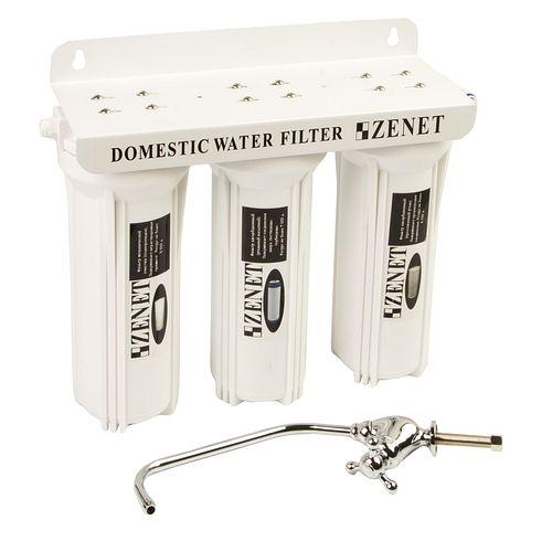 Трехступенчатый угольный фильтр для воды