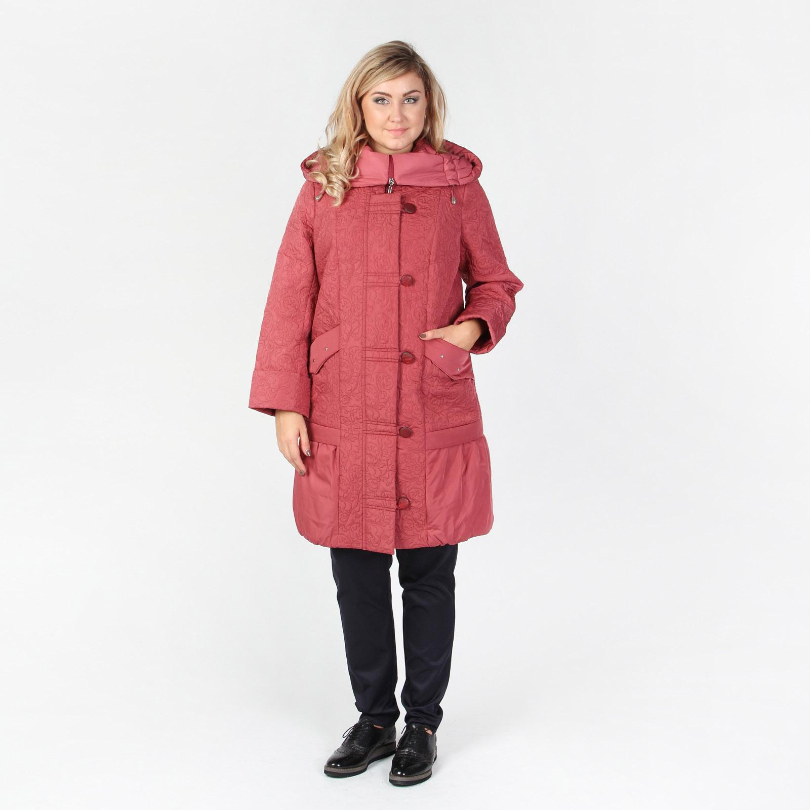 Пальто с фактурным узором