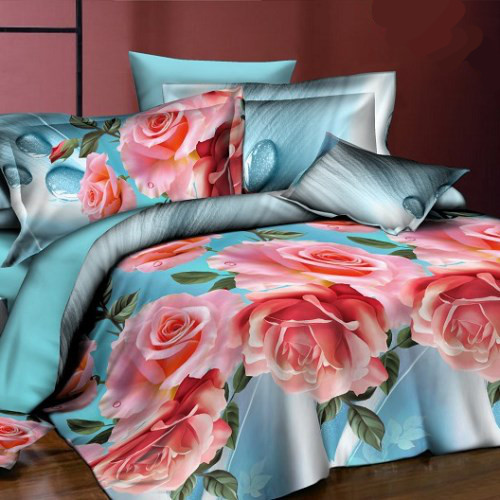 Комплект постельного белья «Роза на голубом»