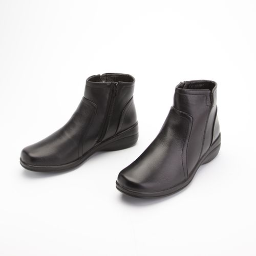Ботинки женские на низком каблуке и молнии