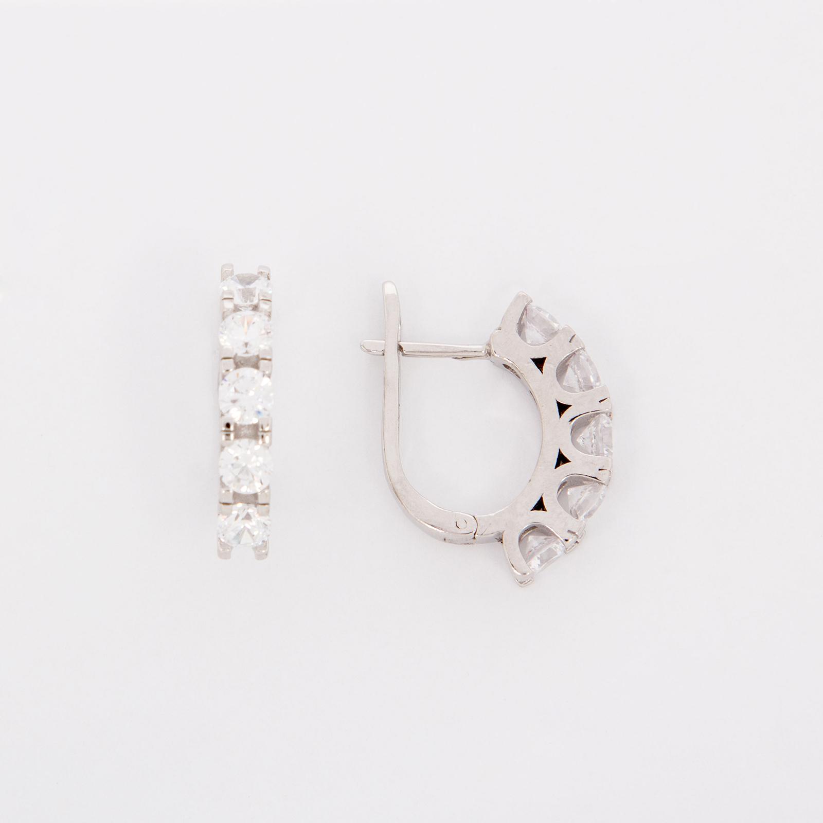 Серебряные серьги «Глэйтери»