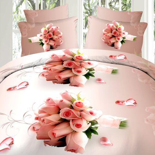 Комплект постельного белья «Розовый бутон»