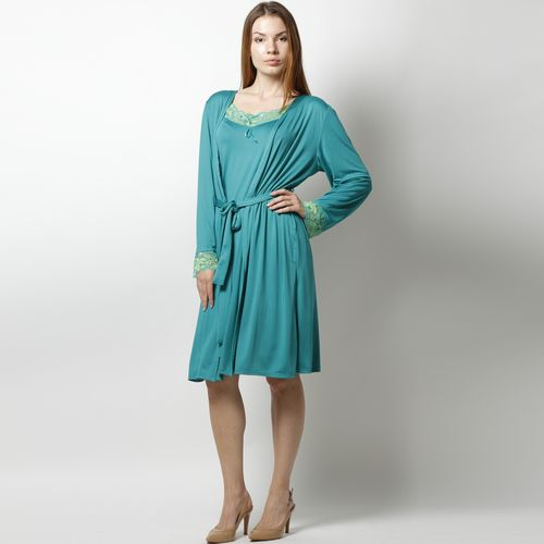 Комплект пеньюар: сорочка и халат