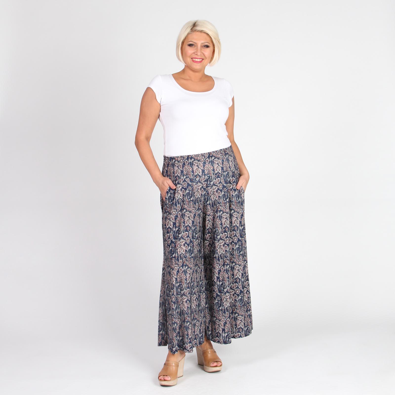 Юбка-брюки на резинке с принтом «пейсли»
