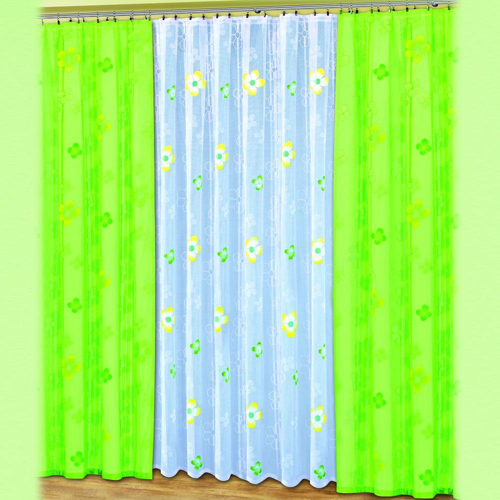 Комплект штор и тюль «Уютный сад»