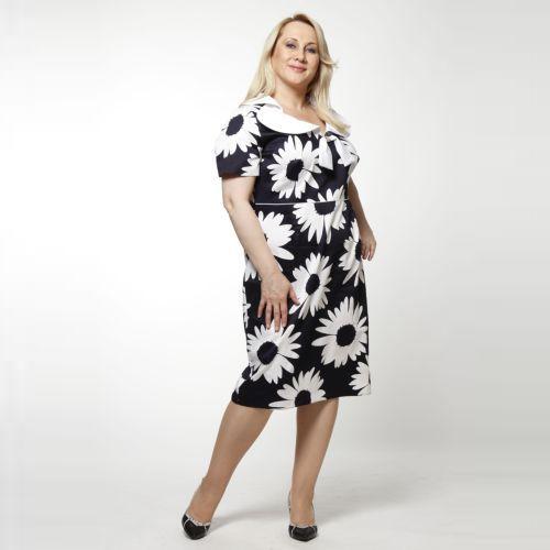 Платье с принтом «Ромашки»