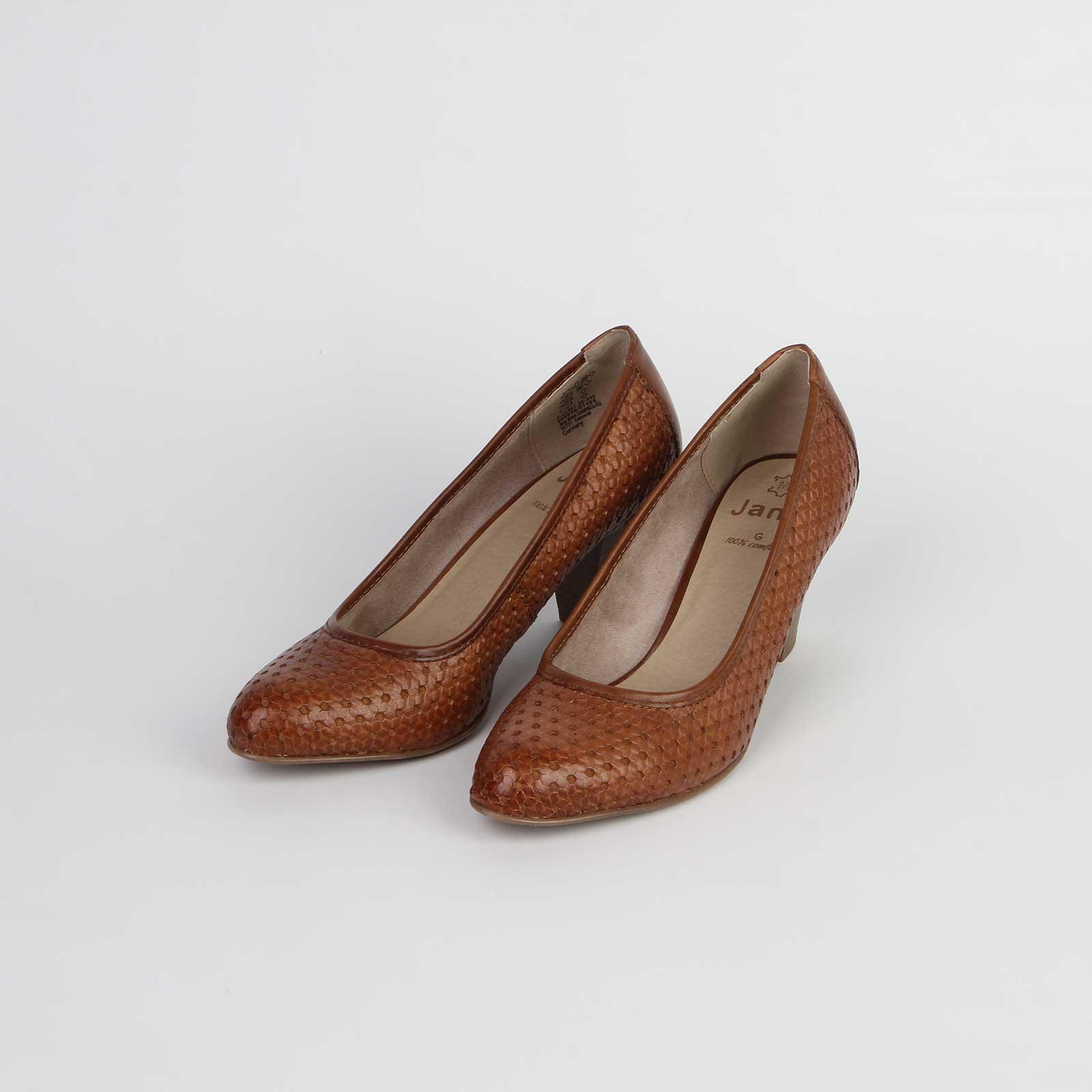 Туфли женские из натуральной кожи с оригинальным тиснением