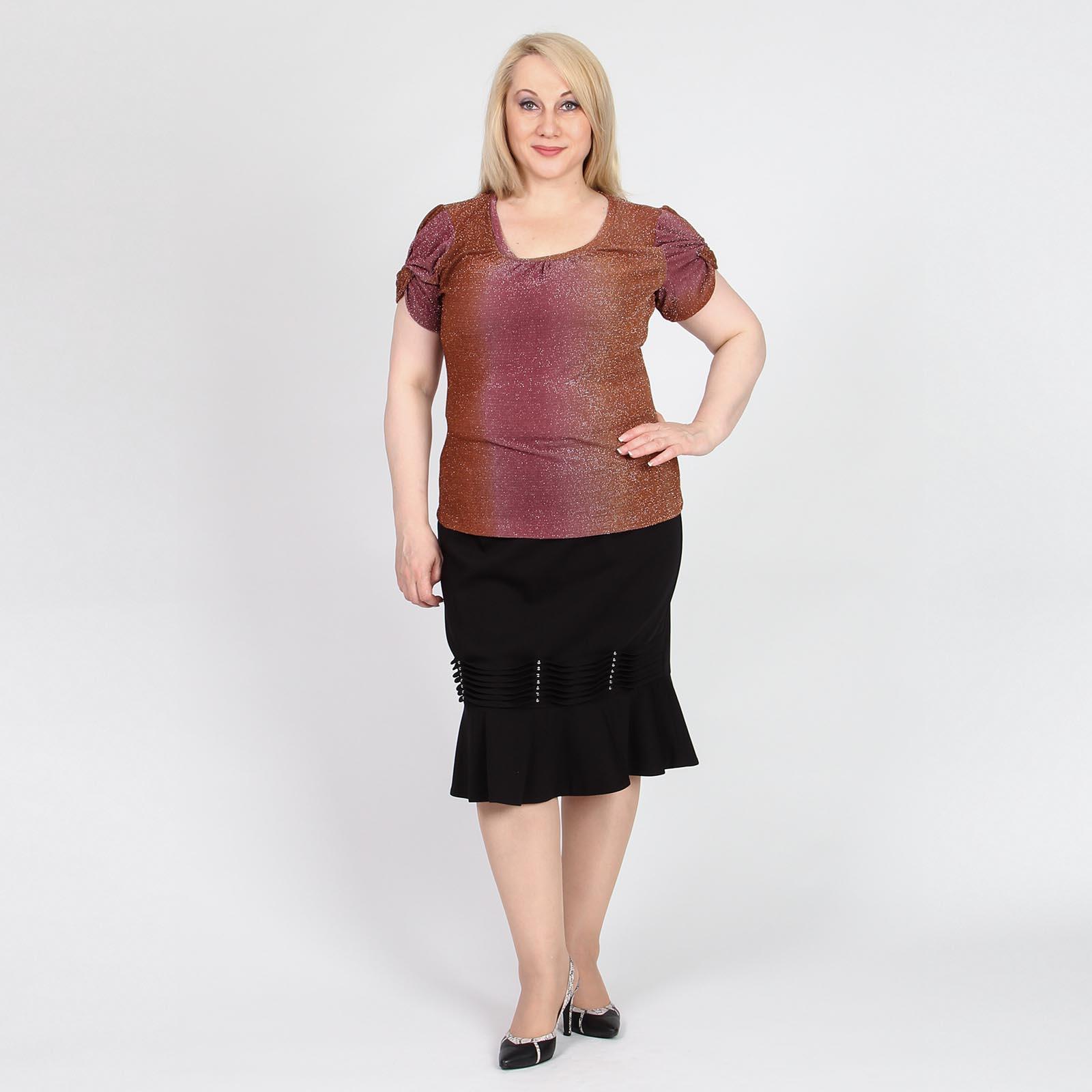Блуза с коротким рукавом и люрексом