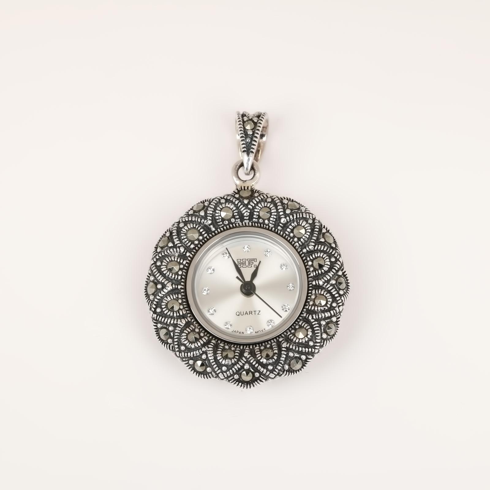 Серебряная подвеска «Часы»