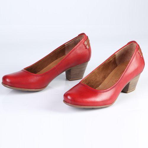 Женские туфли из натуральной кожи на устойчивом каблуке