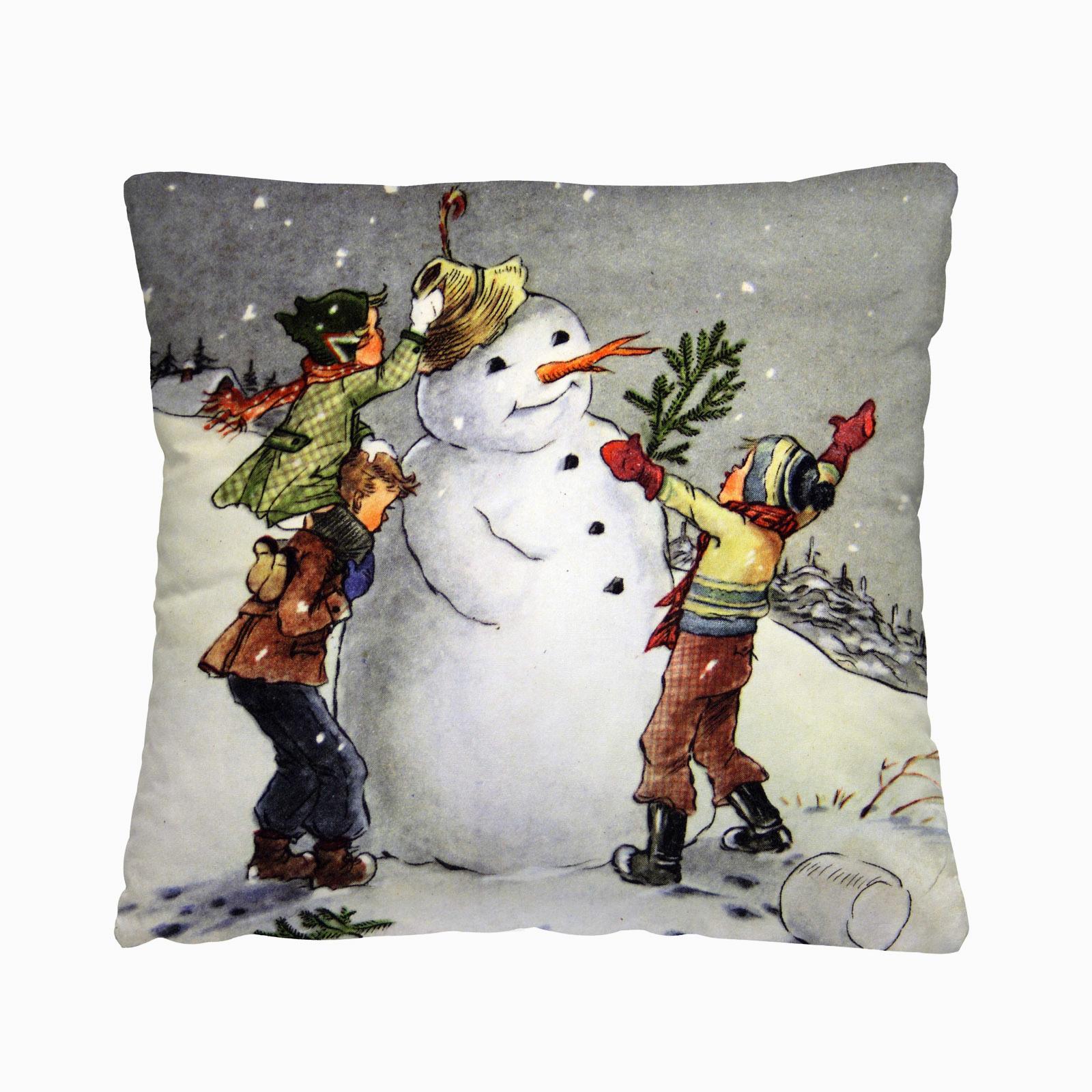 Комплект из 2-х декоративных подушек «Снеговик»