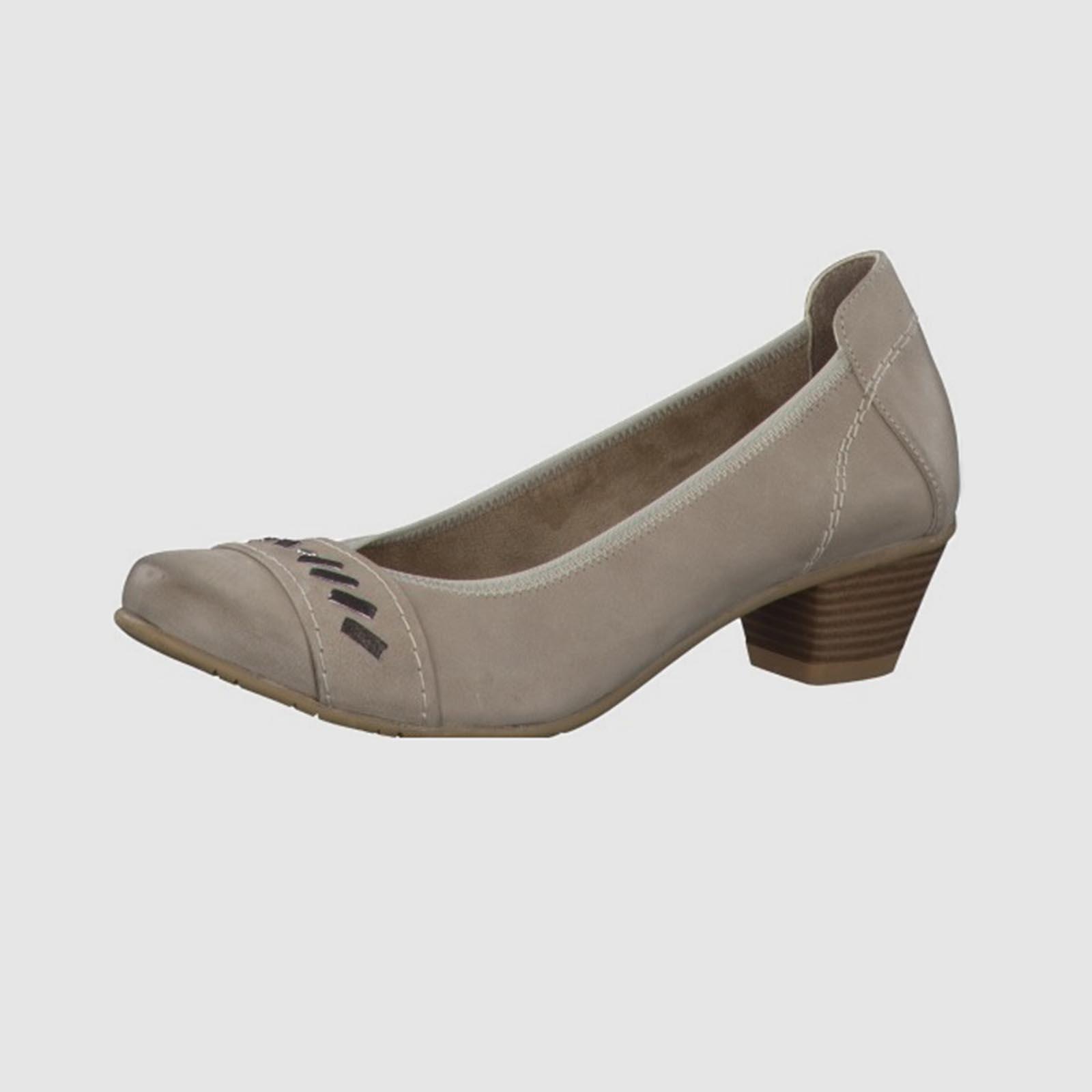 Лодочки женские с декоритивной вставкой на мысу и каблуке
